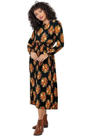 Angel Mulher Vestido Estampado - Vestido Midi Viscose Floral