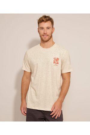 """Suncoast Camiseta Only Good Vibes"""" Manga Curta Gola Careca Off White"""""""