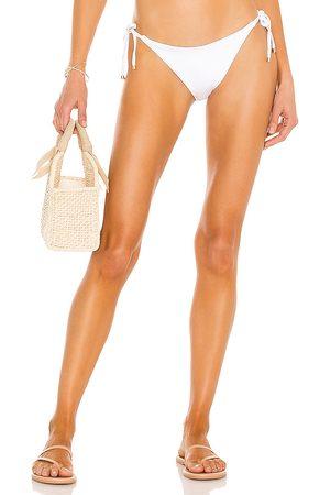 Vitamin A Ele Tie Side Bikini Bottom in White. - size L (also in M, S, XS)