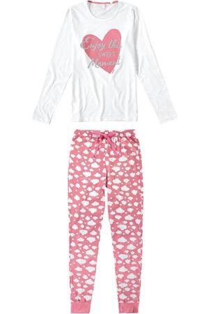 MALWEE LIBERTA Mulher Pijamas - Pijama Feminino Estampado com Amarrador