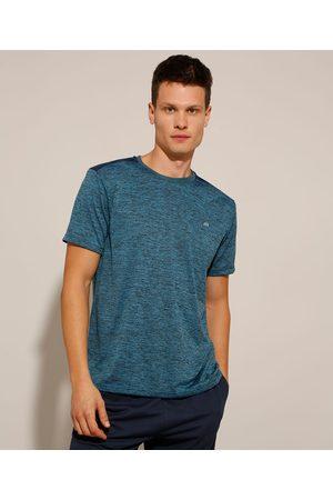 ACE Homem Camisolas de Manga Curta - Camiseta Esportiva Estampada com Recorte Manga Curta Gola Careca