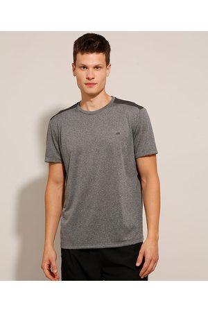 ACE Homem Camisolas de Manga Curta - Camiseta Esportiva com Recorte Manga Curta Gola Careca Mescla