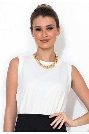 Colcci Mulher Blusas tipo Regata - Regata Branca