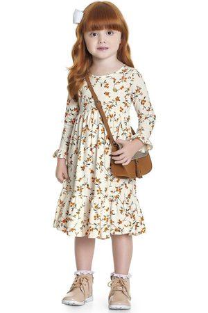 Fakini Kids Menina Vestido Estampado - Vestido Floral Midi