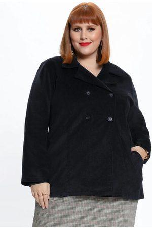 Mink Mulher Trench Coat - Sobretudo Plus Size com Botões