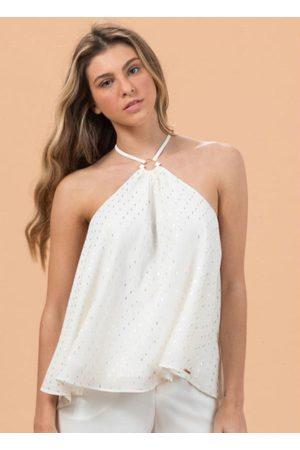 Colcci Mulher Blusa - Blusa de Alças Branca