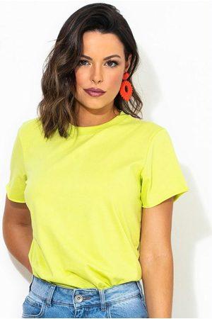 Colcci Mulher Camiseta - T-Shirt Limão