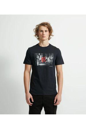 Blue Steel Camiseta Manga Curta Meia Malha Estampa Mangá       G