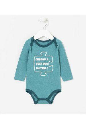 Teddy Boom (0 a 18 meses) Criança Body - Body Infantil Estampa Chegou a Peça que Faltava - Tam 0 a 18 meses       0-3M