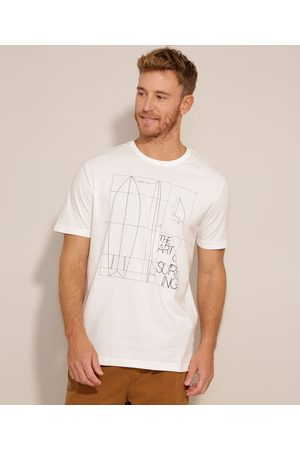 "Suncoast Homem Camisolas de Manga Curta - Camiseta The Art Of Surfing"" Manga Curta Gola Careca Branca"""