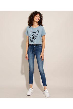 SAWARY Mulher Cintura Alta - Calça Super Skinny Lipo Jeans Cintura Super Alta Médio