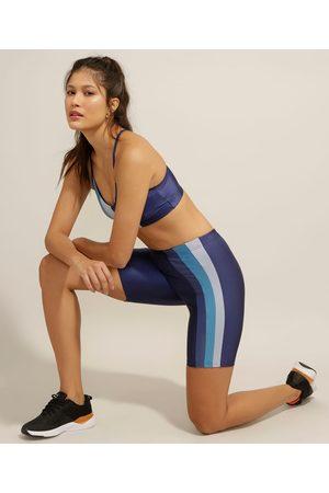 ACE Mulher Bermuda - Bermuda Esportiva Yoga com Listras Laterais