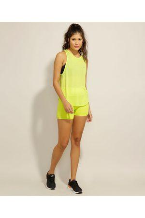 ACE Mulher Short - Short Esportivo com Bolso Cintura Alta Neon
