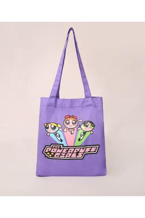 Cartoon Network Sacola Ecobag As Meninas Superpoderosas de Lona Roxa