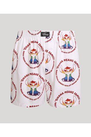 Disney Homem Cueca Samba Canção - Samba Canção Pride Estampada Sticth Branca