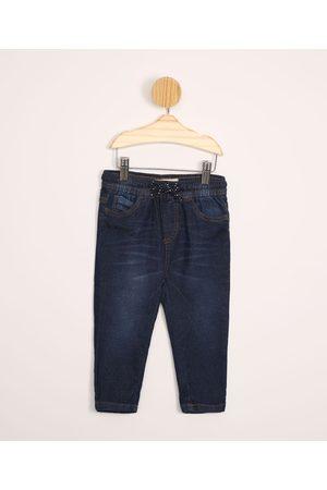 Baby Club Menino Calça Jogger - Calça Infantil Jogger Jeans com Bolsos Escuro