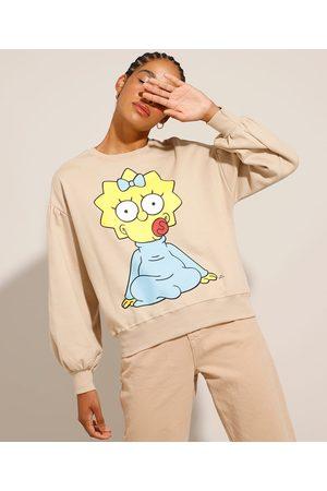 Os Simpsons Blusão de Moletom Maggie com Manga Bufante Claro