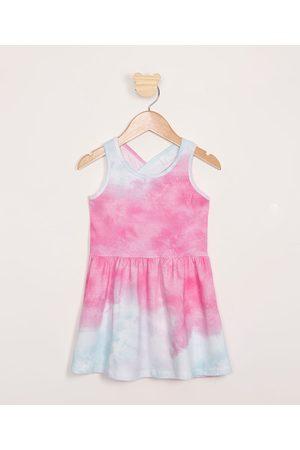 PALOMINO Vestido Infantil Tie Dye Sem Manga Multicor