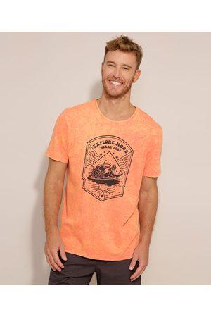 Suncoast Camiseta Sereia Manga Curta Gola Careca Coral
