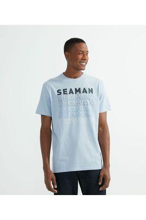 Marfinno Camiseta Comfort Manga Curta com Estampa Seaman | | | P