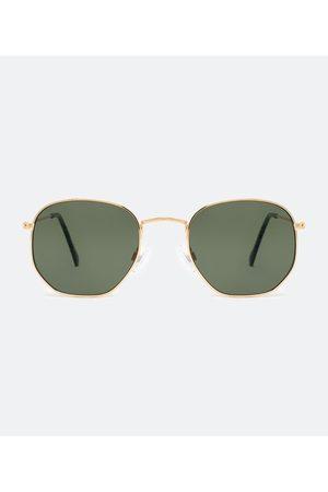 Cubus Óculos de Sol Masculino em Metal Redondo | | | U