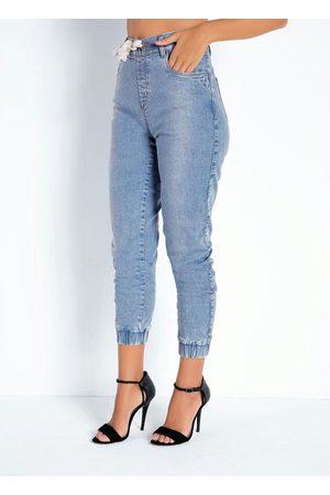 Sawary Jeans Calça Jeans Clara Jogger com Cadarço Sawary