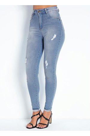 Sawary Jeans Calça Jeans Clara Cigarrete Cinta 360º Sawary
