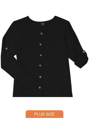 Rovitex Plus Size Camisa Feminina Manga Longa
