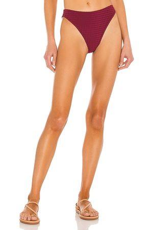 Revel Rey Alice Bikini Bottom in Wine. - size L (also in M, S, XS)