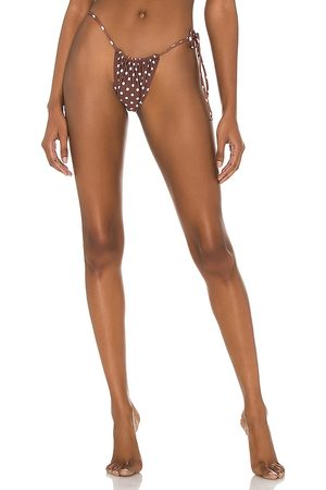 Bananhot Chili Bikini Bottom in Brown. - size L (also in M, S, XS)