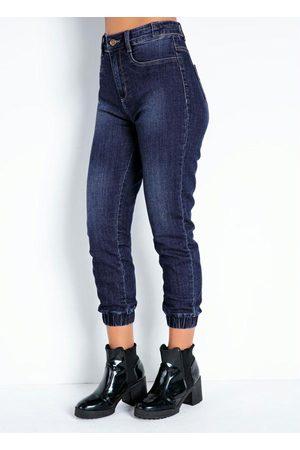 Sawary Jeans Calça Jeans Cropped Jogger com Elástico Sawary