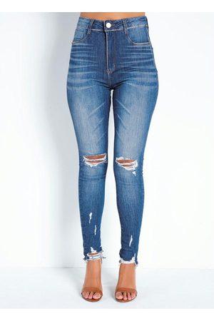 Sawary Jeans Calça Jeans Super Lipo Legging Destroyed Sawary