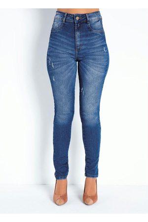 Sawary Jeans Calça Jeans Super Lipo Legging com Puídos Sawary
