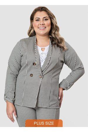 Formitz Plus Size Mulher Blazer - Blazer Branca