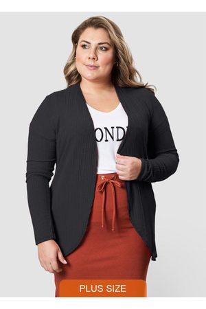 Formitz Plus Size Cardigan Preta