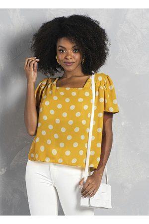 Formitz Fashion Blusa de Poliéster Amarela