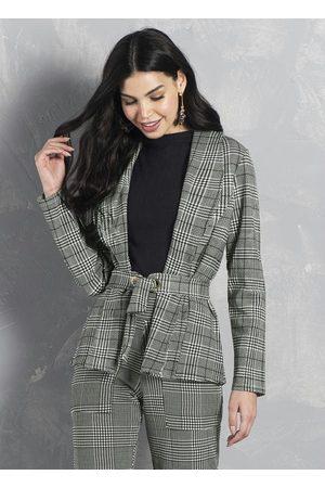 Formitz Fashion Mulher Blazer - Blazer Mescla