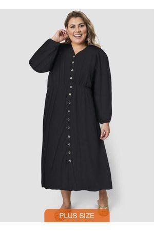 Formitz Plus Size Mulher Vestido Médio - Vestido de Viscose