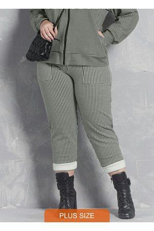 Formitz Plus Size Mulher Calça Skinny - Calça Branca