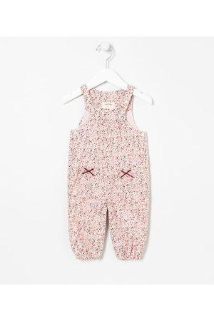 Teddy Boom (0 a 18 meses) Criança Jardineira - Jardineira Infantil Floral - Tam 0 a 18 meses       9-12M