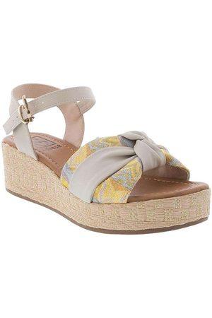 BEBECÊ Mulher Sandálias Plataforma - Sandália Plataforma com Nó Ráfia Color 4021