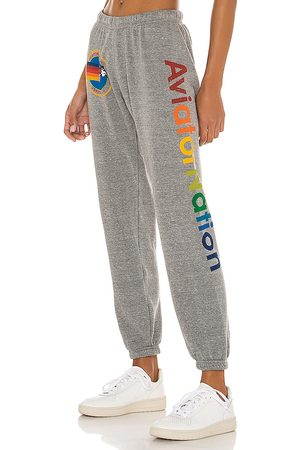 Aviator Nation Sweatpant in Grey. - size L (also in M, S, XS)