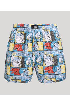 Warner Bros Samba Canção Estampada Tom e Jerry Azul Claro
