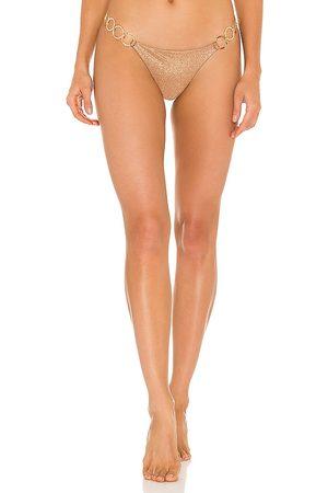 Bunny Lexi Bikini Bottom in Metallic Bronze. - size L (also in M, S, XS)