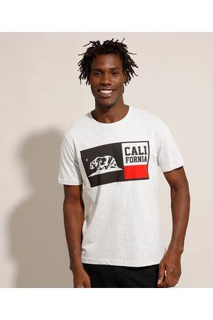 """Suncoast Camiseta California"""" Manga Curta Gola Careca Mescla Claro"""""""