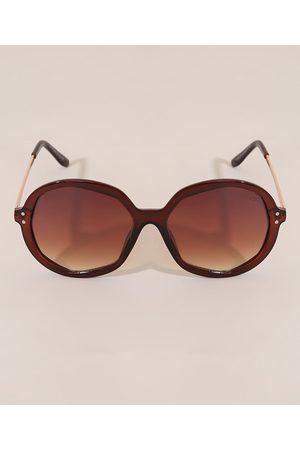 Yessica Óculos de Sol Redondo Feminino