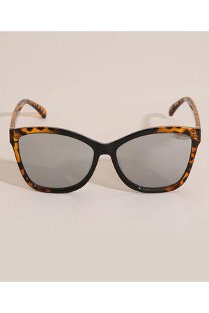 Yessica Óculos de Sol Oval Feminino Tartaruga