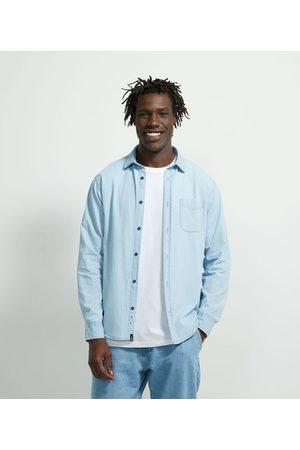 Marfinno Camisa Manga Longa Básica em Jeans       M