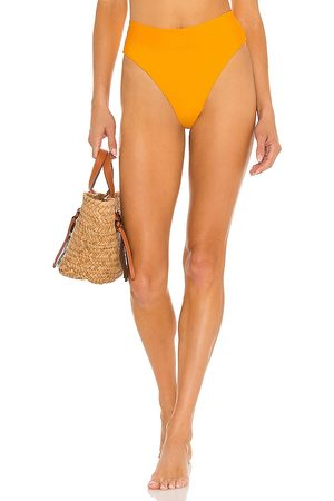 B. Swim Cove Hi-Waist Bikini Bottom in Yellow. - size L (also in M, S, XS)