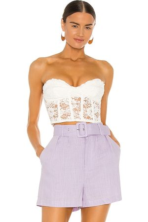 Bardot Lace Corset Bustier in . - size L (also in M, S, XS)